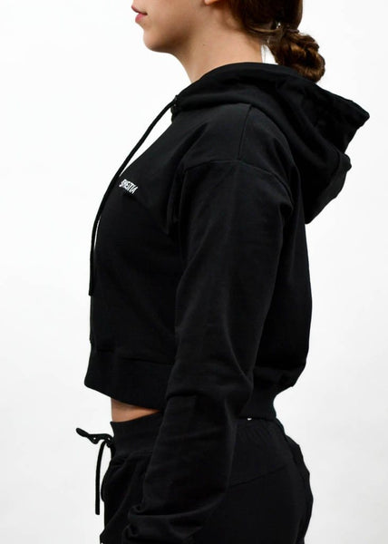 SI Jogger Crop Hoodie- Sweat Industry Apparel Black Side