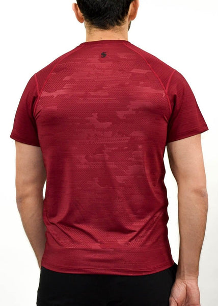 Military Compression Tee - Sweat Industry Apparel Army Red Back