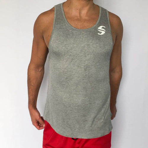 Muscle Tank - Sweat Industry Apparel Grey Mix Front