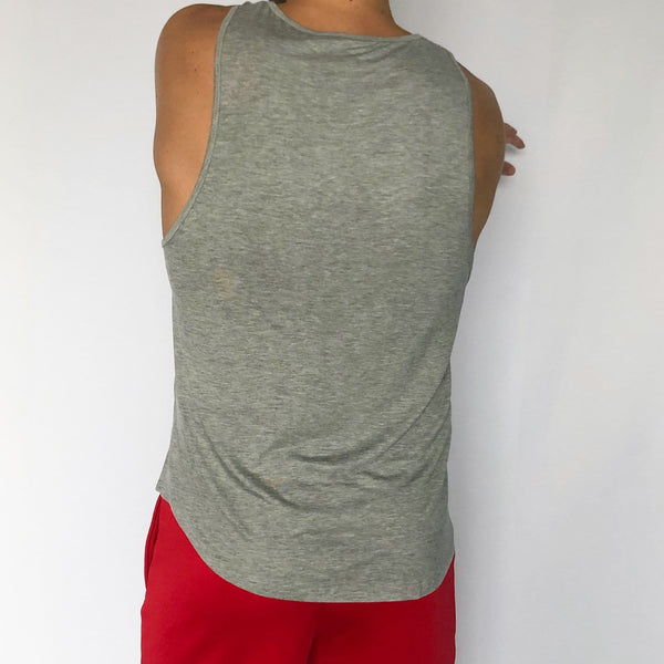 Muscle Tank - Sweat Industry Apparel Grey Mix Back