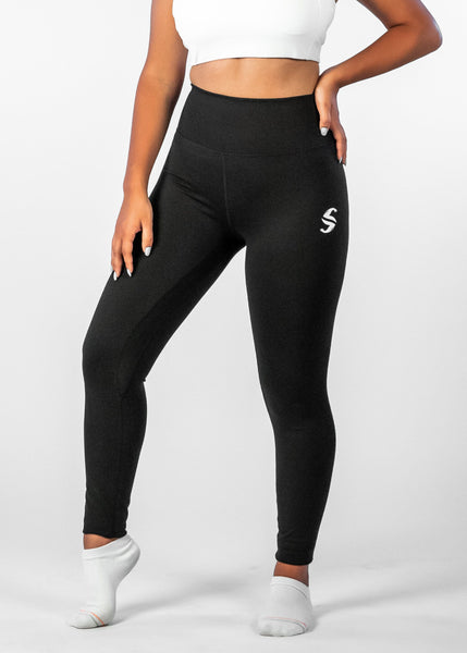 Ethereal 7/8 Leggings - Sweat Industry Apparel Black Front