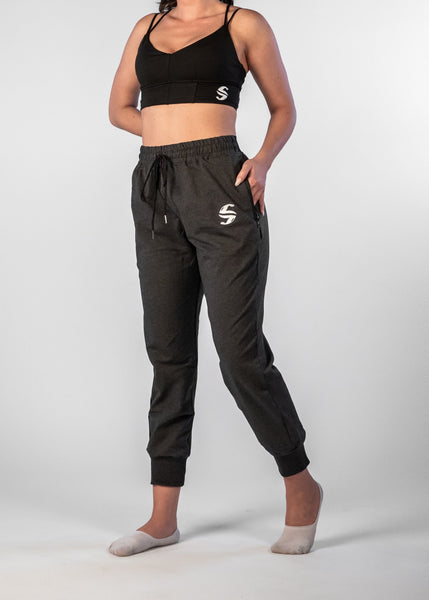 SI Jogger - Sweat Industry Apparel Black Space Dye Front