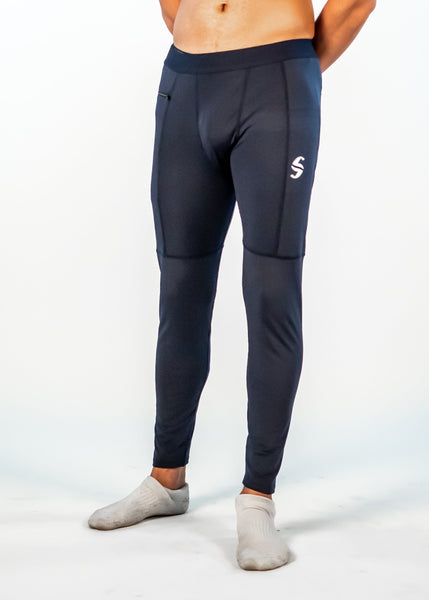 Men's Power Compression Pants - Sweat Industry Apparel Navy Front