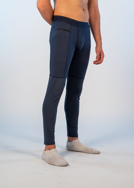 Men's Power Compression Pants - Sweat Industry Apparel Navy Side