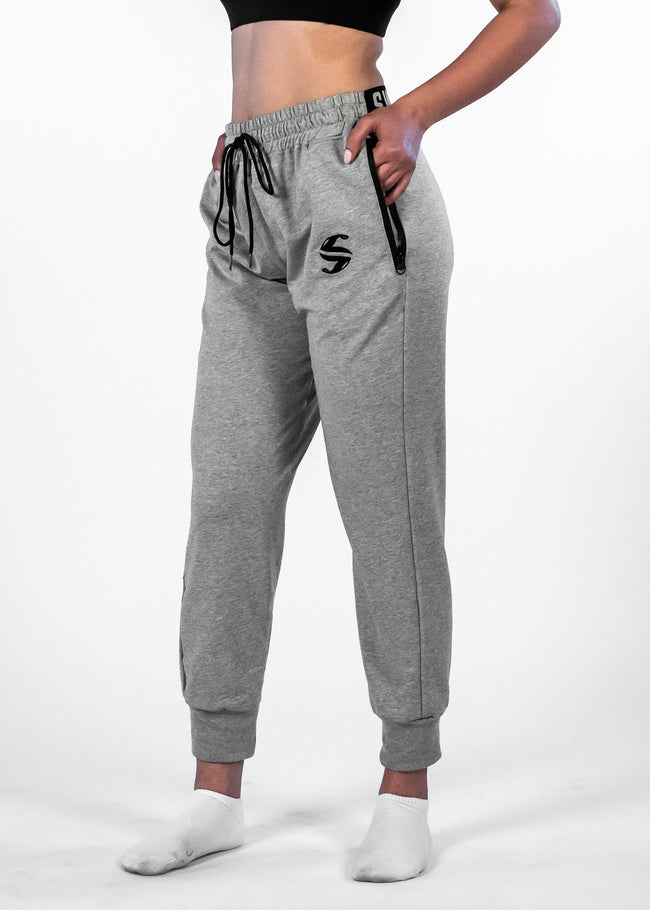 SI Jogger - Sweat Industry Apparel Grey Space Dye Side