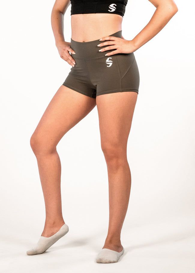 Ciel Booty Shorts - Sweat Industry Apparel Juniper Front