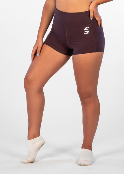 Ciel Booty Shorts - Sweat Industry Apparel Plum Side