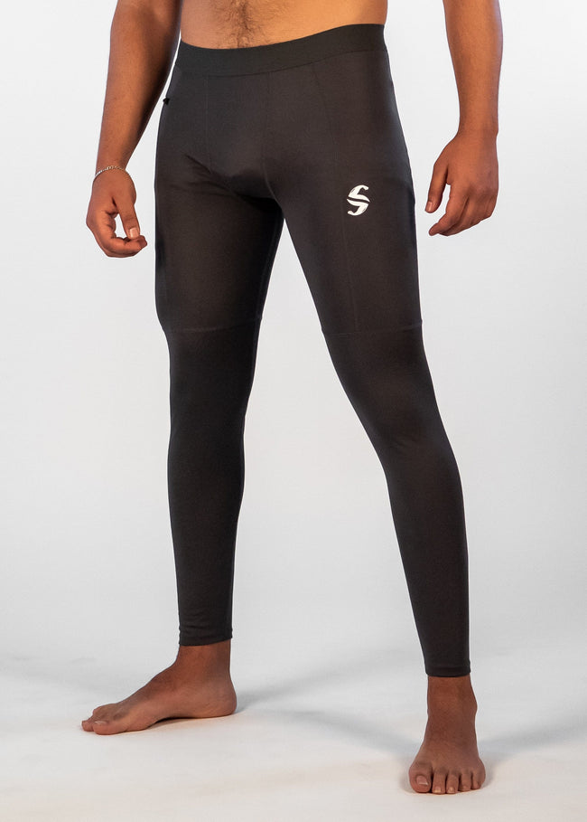 Men's Power Compression Pants - Sweat Industry Apparel Carbon Front