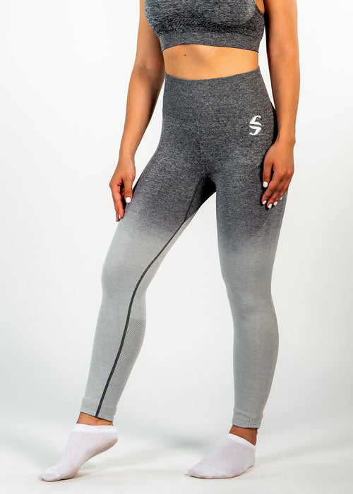 Seamless Eden Leggings - Sweat Industry Apparel Gradient Grey Front