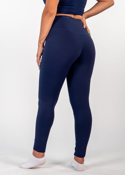 Essential Leggings - Sweat Industry Apparel Indigo Side