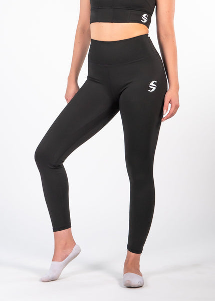 Essential Leggings - Sweat Industry Apparel Black Front