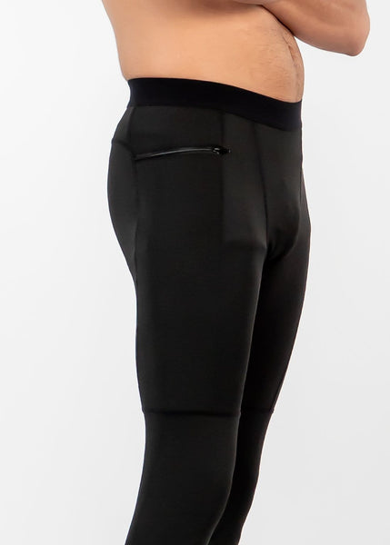 Men's Power Compression Pants - Sweat Industry Apparel Black Side
