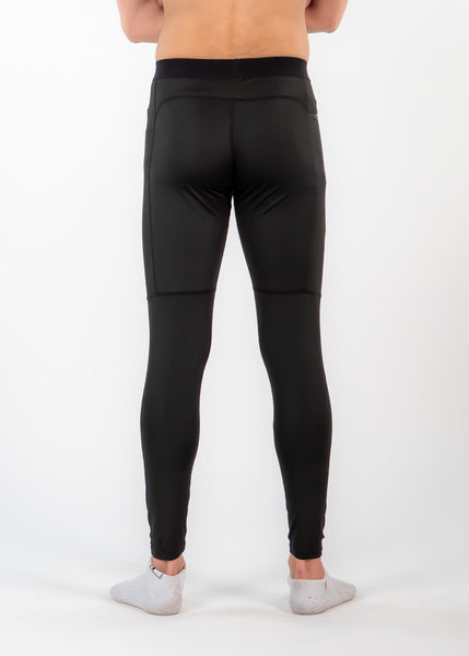 Men's Power Compression Pants - Sweat Industry Apparel Black Back