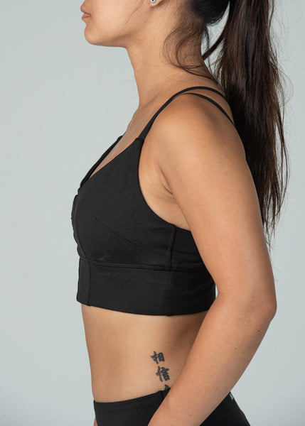 Essential Sports Bra - Sweat Industry Apparel Black Side