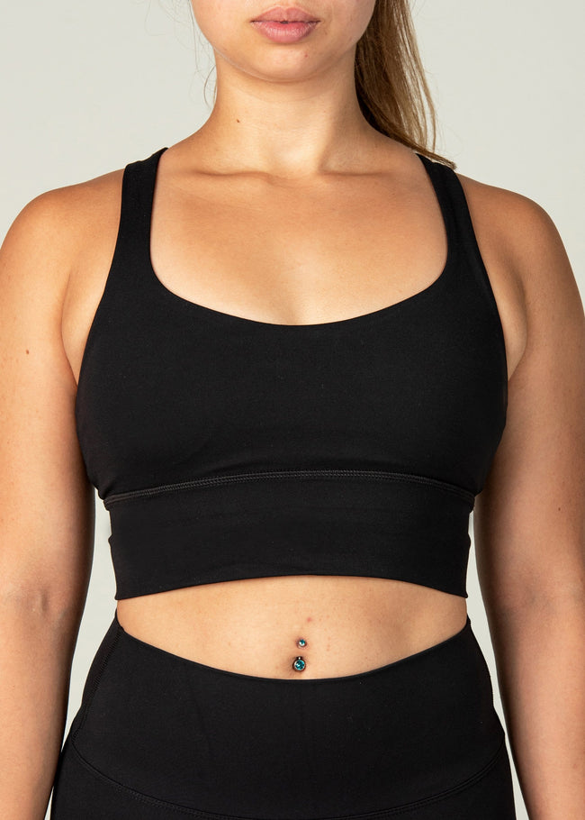 Ethereal Sports Bra - Sweat Industry Apparel Black Front