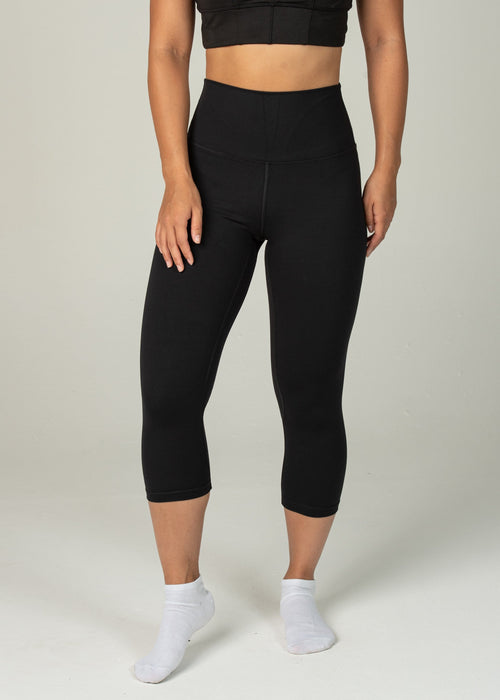 Astral Capri Leggings - Sweat Industry Apparel Black Front
