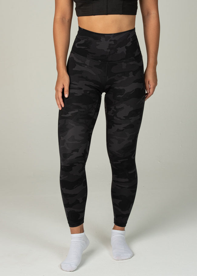 Prestige Leggings - Sweat Industry Apparel Black Camo Front