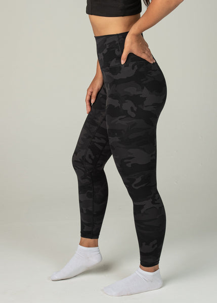 Prestige Leggings - Sweat Industry Apparel Black Camo Side