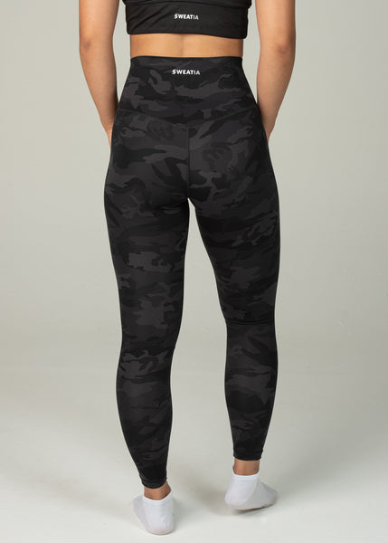 Prestige Leggings - Sweat Industry Apparel Black Camo Back