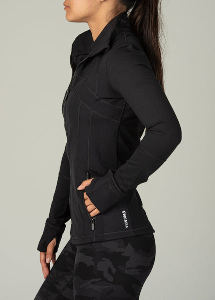 Effortless Jacket - Sweat Industry Apparel Black Side