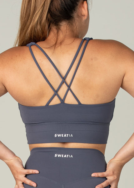 Ethereal Sports Bra - Sweat Industry Apparel Dark Blue Back