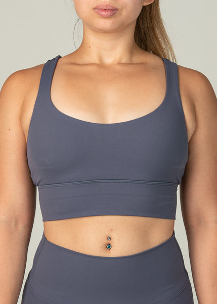 Ethereal Sports Bra - Sweat Industry Apparel Dark Blue Front