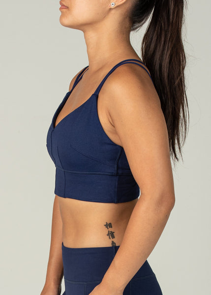 Essential Sports Bra - Sweat Industry Apparel Indigo Side