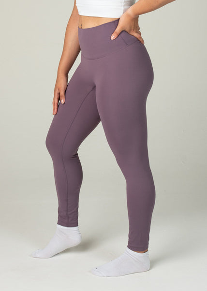 Ethereal 2.0 7/8 Leggings - Sweat Industry Apparel Grape Side