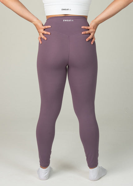 Ethereal 2.0 7/8 Leggings - Sweat Industry Apparel Grape Back