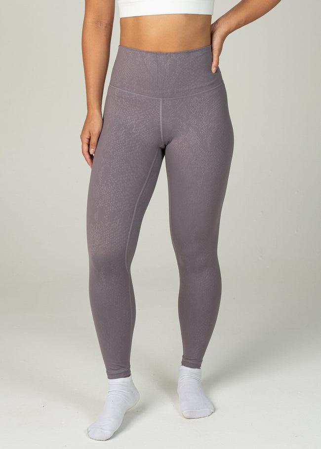 Prestige Leggings - Sweat Industry Apparel Purple Snake Front