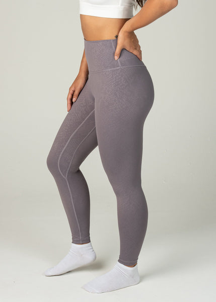 Prestige Leggings - Sweat Industry Apparel Purple Snake Side