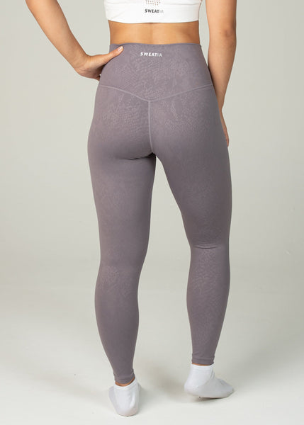 Prestige Leggings - Sweat Industry Apparel Purple Snake Back
