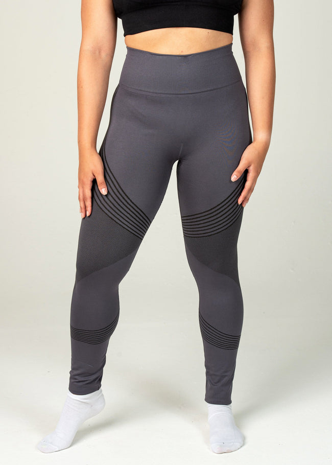 Seamless Triumph Leggings - Sweat Industry Apparel Grey Front