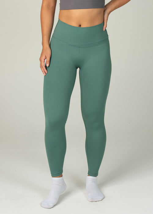 Ethereal 2.0 7/8 Leggings - Sweat Industry Apparel Pine Front