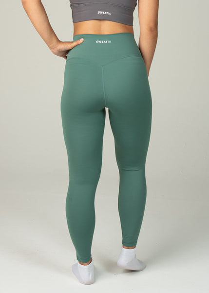 Ethereal 2.0 7/8 Leggings - Sweat Industry Apparel Pine Back