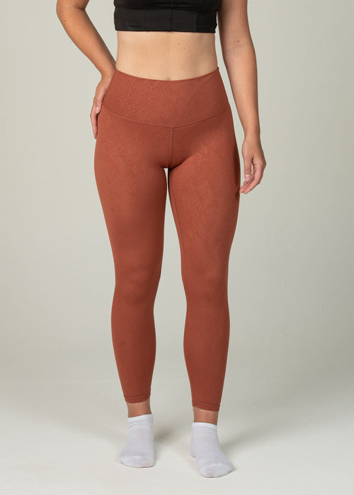 Prestige Leggings - Sweat Industry Apparel Orange Snake Front