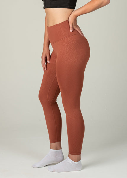 Prestige Leggings - Sweat Industry Apparel Orange Snake Side