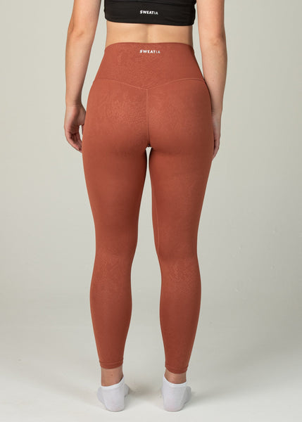 Prestige Leggings - Sweat Industry Apparel Orange Snake Back