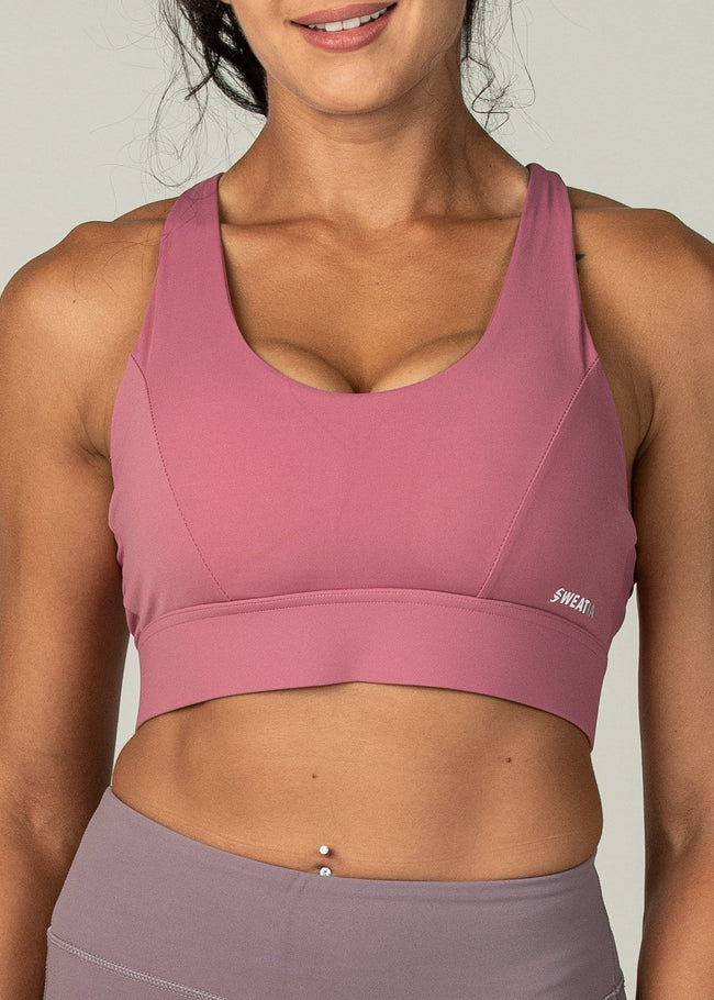 Fierce Sports Bra - Sweat Industry Apparel Ruby Front