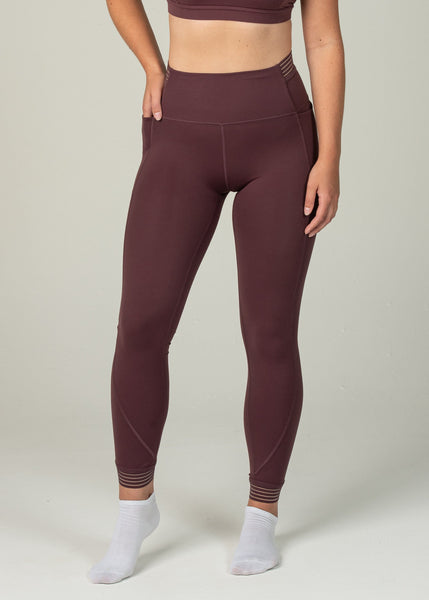Victory Leggings - Sweat Industry Apparel Maroon Front