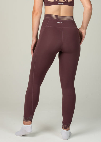 Victory Leggings - Sweat Industry Apparel Maroon Back