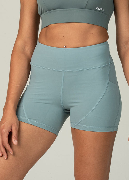 Vital Shorts - Sweat Industry Apparel Teal Front