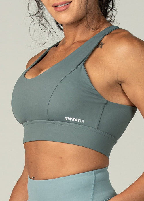 Fierce Sports Bra - Sweat Industry Apparel Poseidon Side