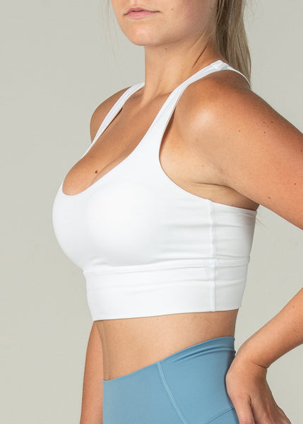 Ethereal Sports Bra - Sweat Industry Apparel White Side
