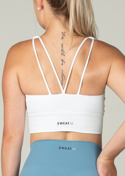 Ethereal Sports Bra - Sweat Industry Apparel White Back