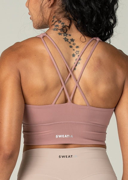 Ethereal Sports Bra - Sweat Industry Apparel Dusty Pink Back