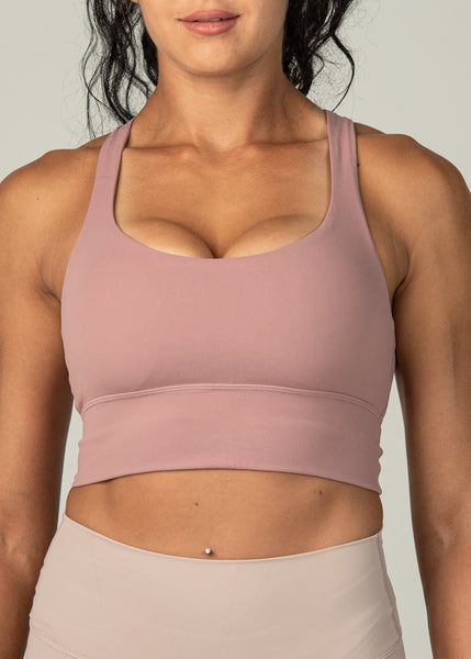 Ethereal Sports Bra - Sweat Industry Apparel Dusty Pink Front