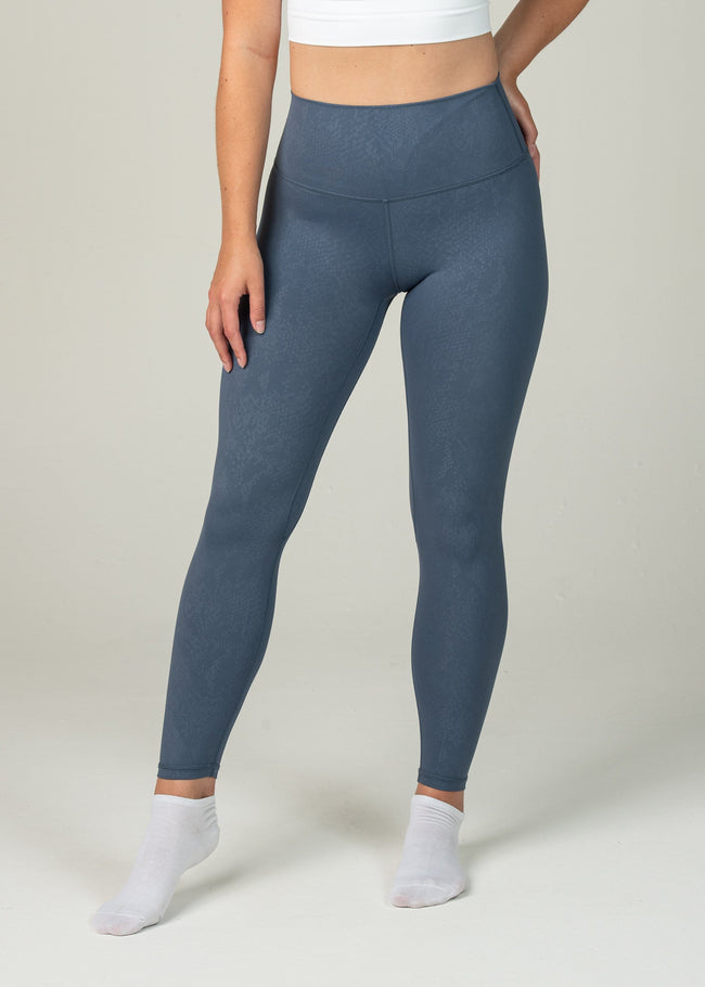 Prestige Leggings - Sweat Industry Apparel Blue Snake Front
