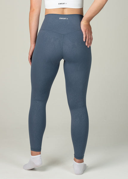 Prestige Leggings - Sweat Industry Apparel Blue Snake Back
