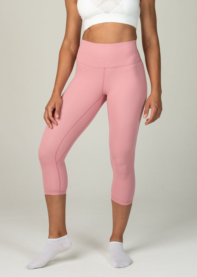 Astral Capri Leggings - Sweat Industry Apparel Pink Front